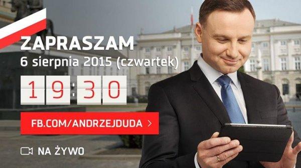 Andrzej Duda na FB