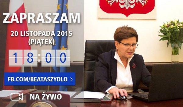 Facebook - Beata Szydło
