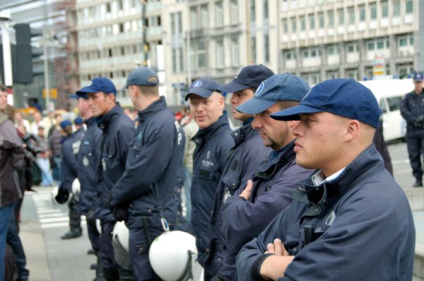 Policja w Brukseli