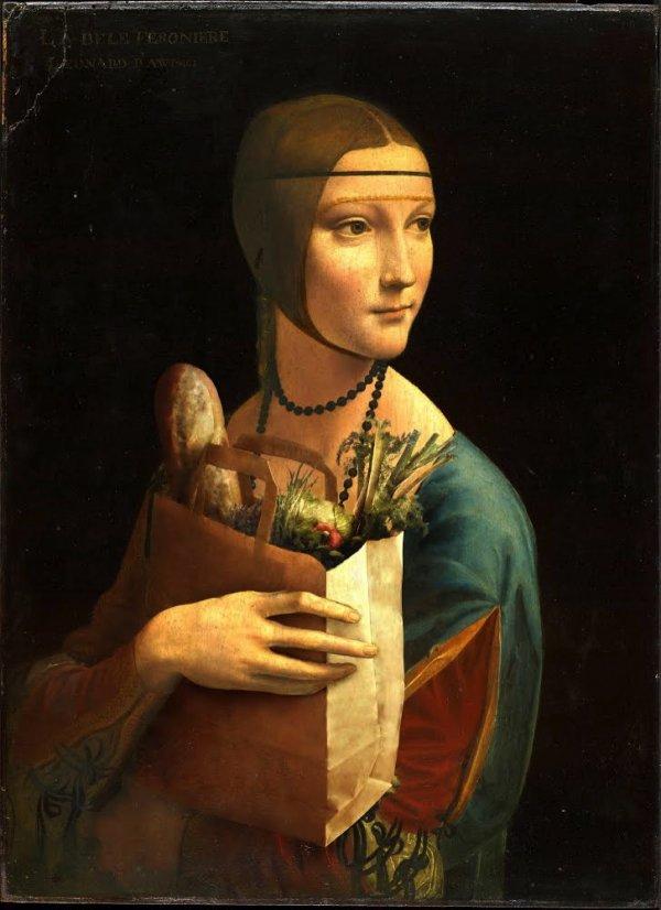 Dama z zakupami Krystian Borkowski