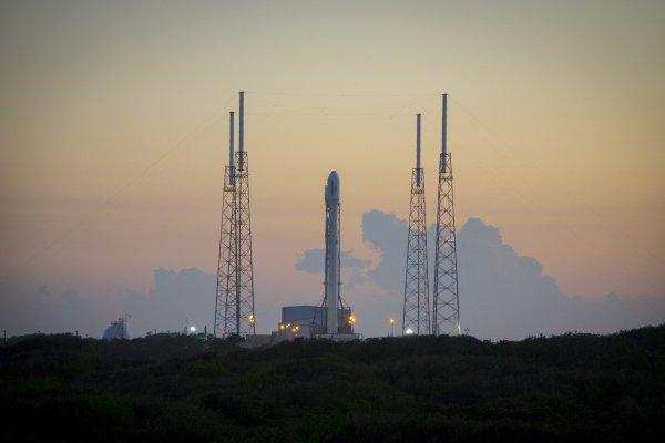 Falcon 9 przed startem