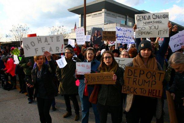 protesty - Trump