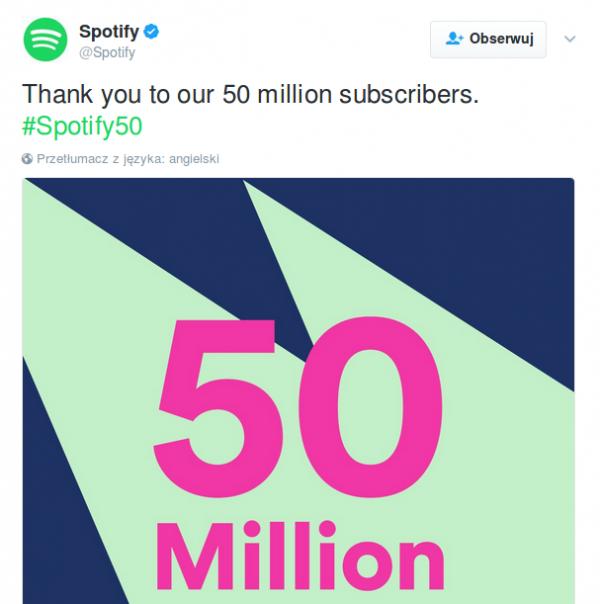 Spotify - tweet
