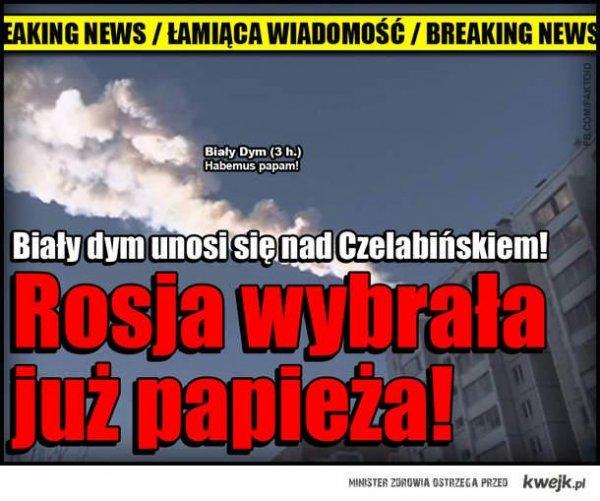 Meteoryt w Rosji
