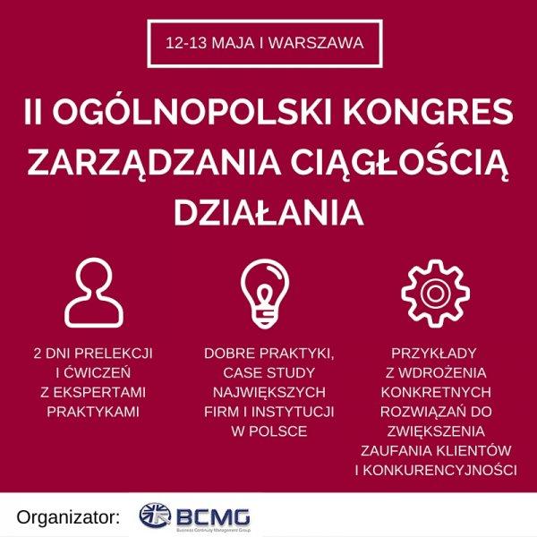 II Ogólnopolski Kongres Zarządzania Ciągłością Działania