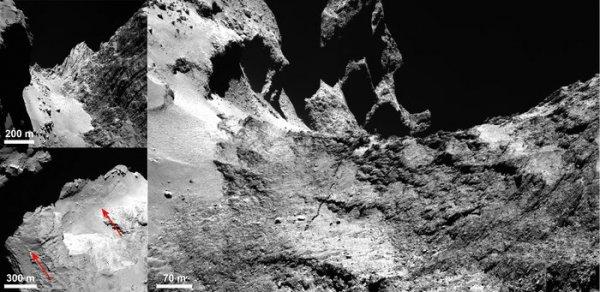 Pęknięcie - zdjęcie Rosetty