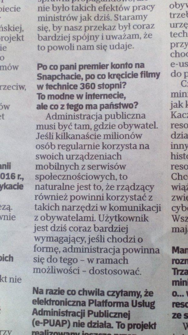 Wywiad, Rzeczpospolita
