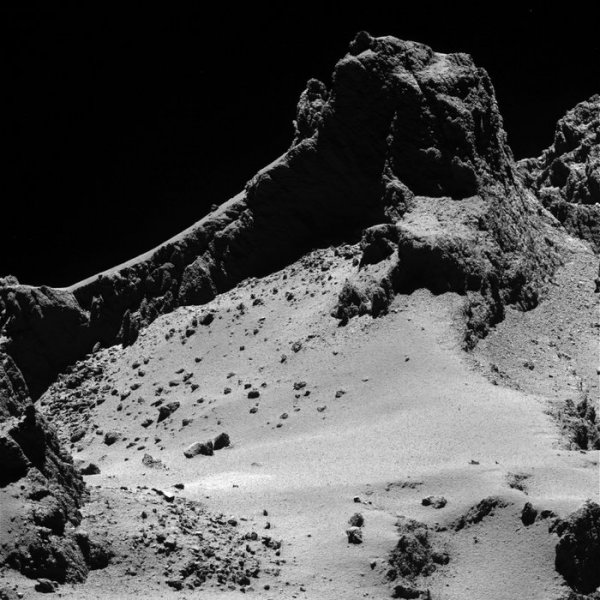 Zdjęcie Rosetty - kometa z 10 km