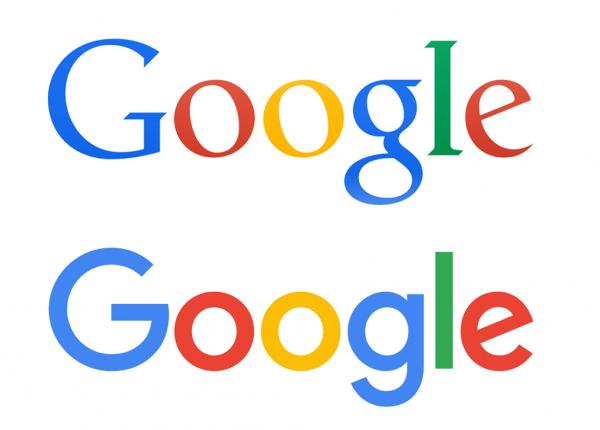 Nowe i stare logo Google