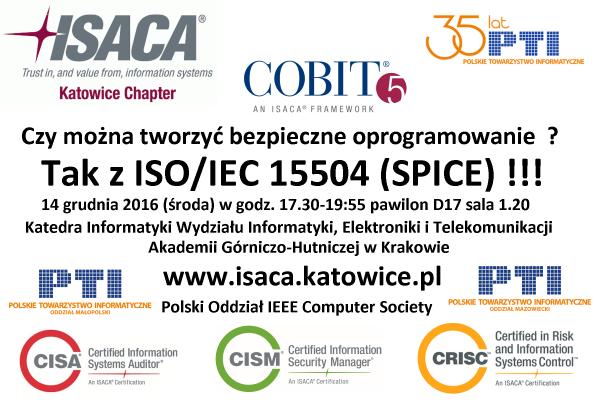 Seminarium dotyczące normy  wspomagającej wytwarzanie bezpiecznego oprogramowania ISO IEC 15504-5:2012