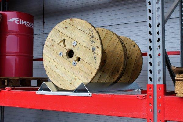 MGL Sp. z o.o. | Stelaż do przechowywania szpul i bębnów kablowych na regałach paletowych