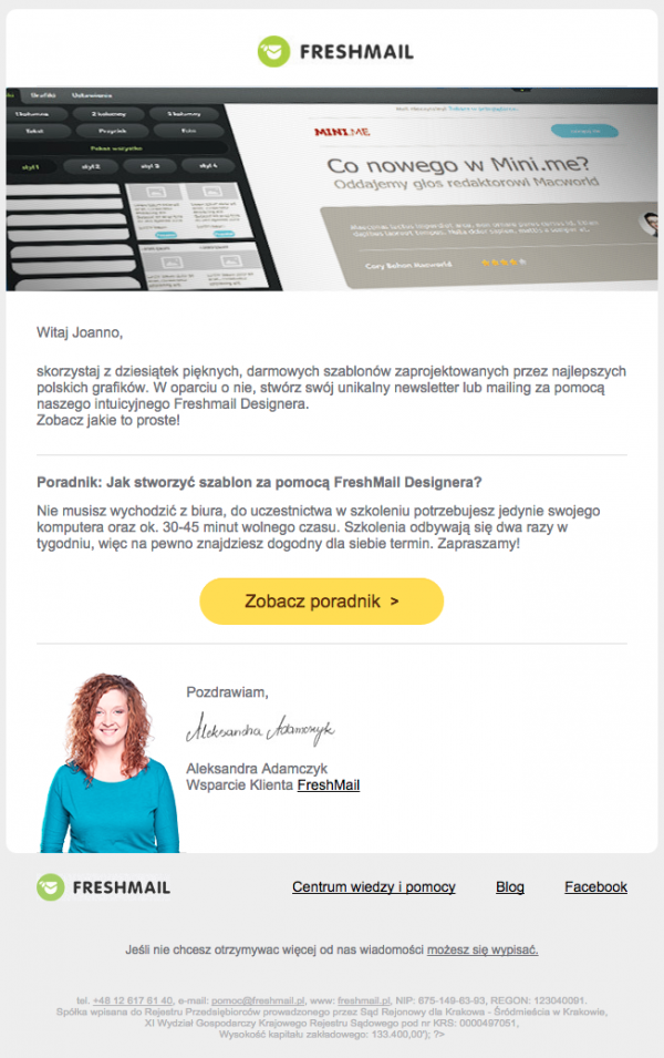 newsletter freshmail