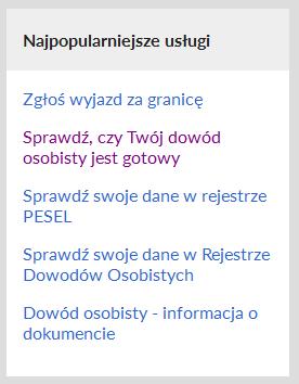 Obywatel.gov.pl - najpopularniejsze usługi