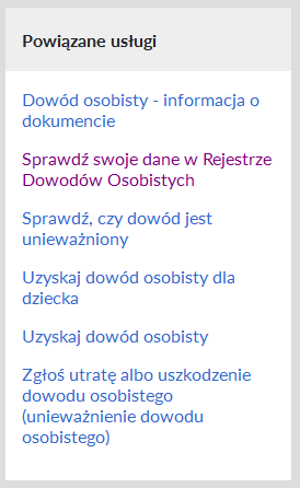 Obywatel.gov.pl - usługi powiązane