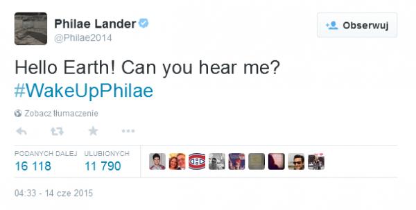 Konto Twitterowe lądownika Philae