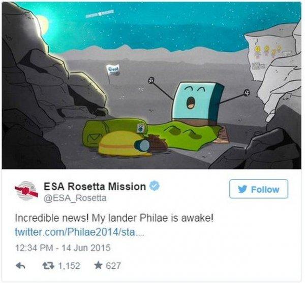 Lądownik Philae obudził się!