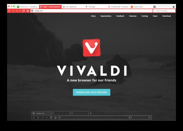 Vivaldi - zrzut ekranowy