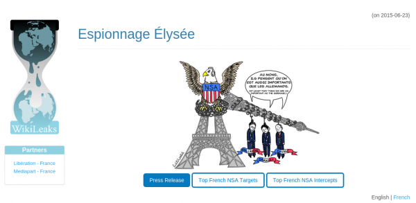 Wikileaks - strona z wyciekiem