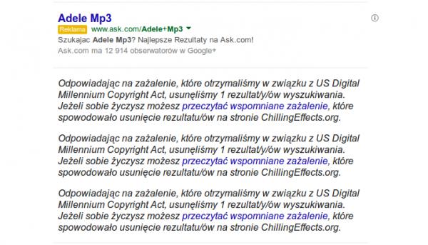 zrzut Google