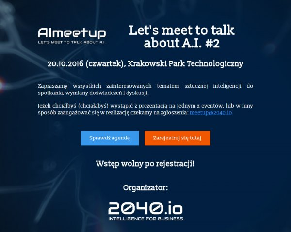 Let's meet to talk about Artificial Intelligence