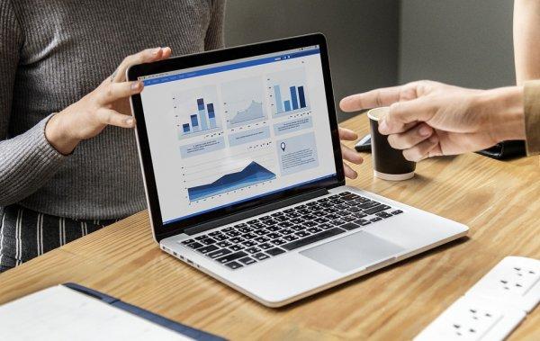 laptop, analityka, ERP