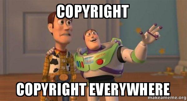 Prawo autorskie wszędzie - mem