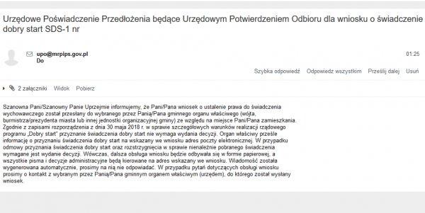 UPO wniosku w programie Dobry Start przez bank internetowy