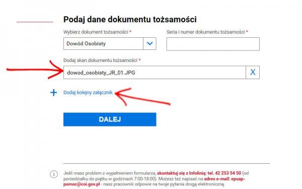 Dopisywanie do listy wyborców krok 4 - dodanie skanu dokumentu 2