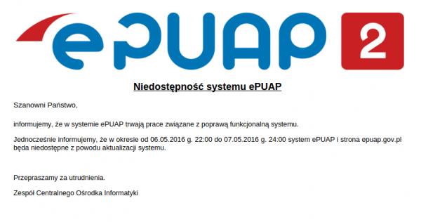 ePUAP - awaria