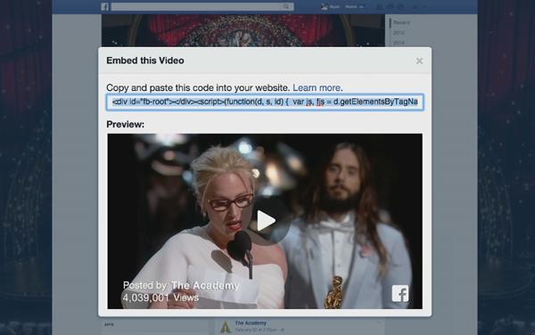 Facebook - zamieszczanie filmów