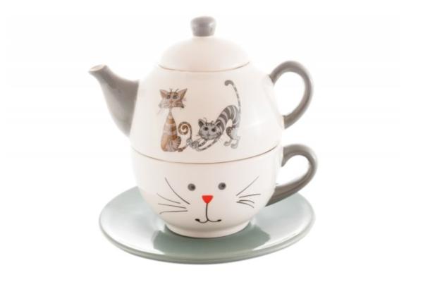 Prezenty świąteczne dla miłośników kawy i herbaty. Filiżanka z dzbankiem z serii Tea for One