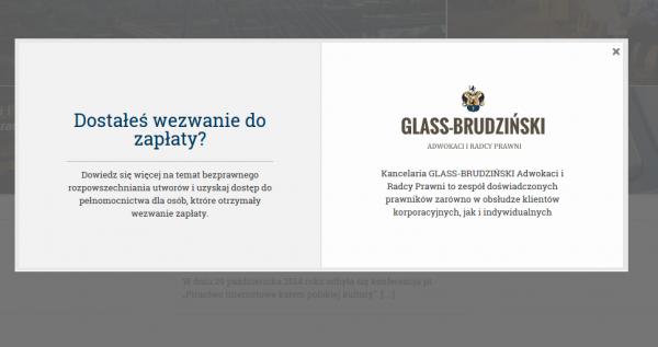 Glass Brudziński - powitanie na stronie