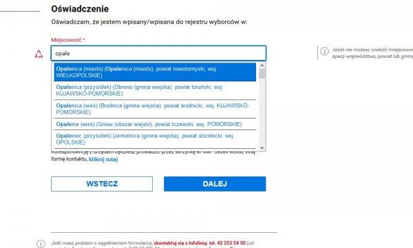 Głosowanie korespondencyjne - zgłoszenie zamiaru przez internet