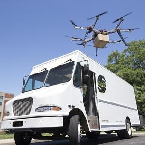 Dron w akcji