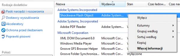 Włączanie funkcji click-to-play w Internet Explorerze