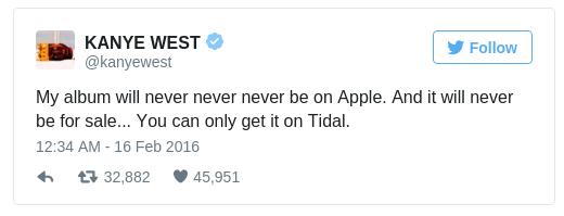 Kanye West - Tweet