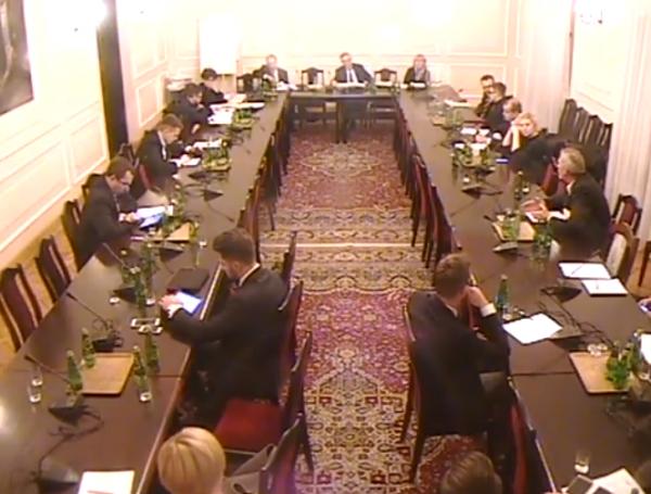 Posiedzenie sejmowej komisji CNT