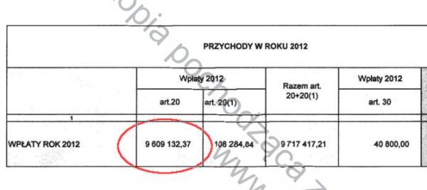 Kopipol - fragment raportu