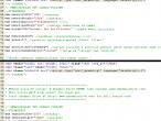 Kod źródłowy strony MSWiA przed oraz po dodaniu wymaganej adnotacji w treści skryptu