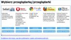 Ekran wyboru przeglądarek w wersji Polskiej