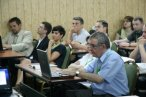 I dzień Konwentu, na zdjęciu p. Grabowski z UM Łódź przygotowuje się do swojej prezentacji