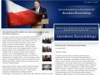 Fragment strony Jarosława Kaczyńskiego