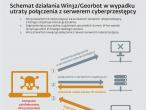 Schemat działania zagrożenia w sytuacji utraty połączenia z serwerem cyberprzestępcy