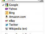 Twitter w polu wyszukiwania Firefoksa
