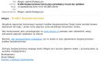 Phishingowa wiadomość skierowana przeciwko użytkownikom  Allegro