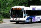 Amerykański autobus z bagażnikiem na rowery