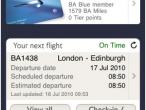 Aplikacja British Airways na iPhone'a