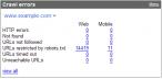 Przykład statystyk Google w gadżecie (źródło: Google)