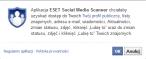 Dane, których żąda ESET Social Media Scanner
