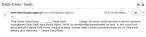 E-mail z odzyskanym hasłem otrzymany przez Czytelnika, zrzut ekranu